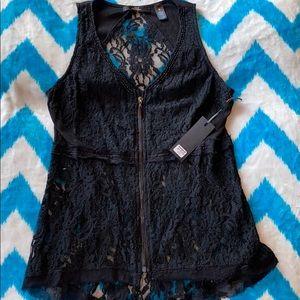 NWT zip up, sleeveless shirt